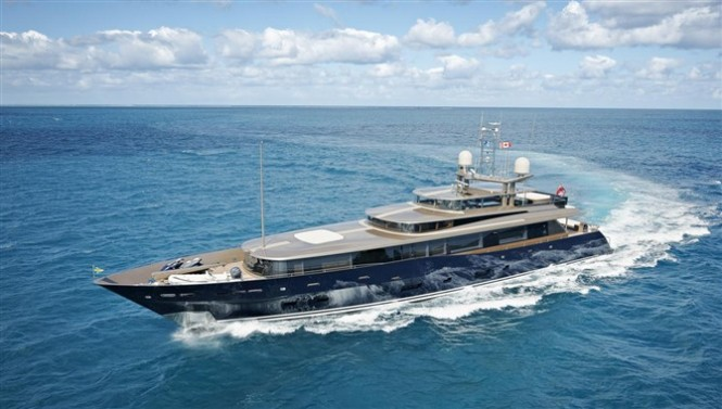 47m Alloy motor yacht Loretta Anne designed by Dubois