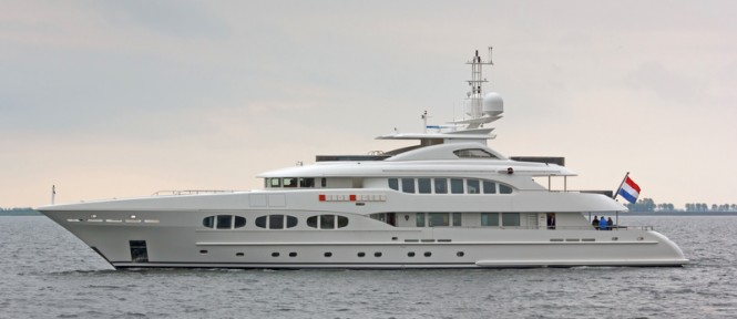 47m motor yacht Lady Petra by Heesen Yachts and Omega Architects