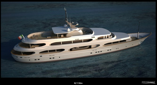 55m Spadolini Superyacht Project - upview