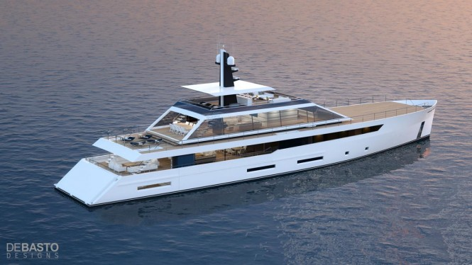 55m superyacht Quartz concept - aft view