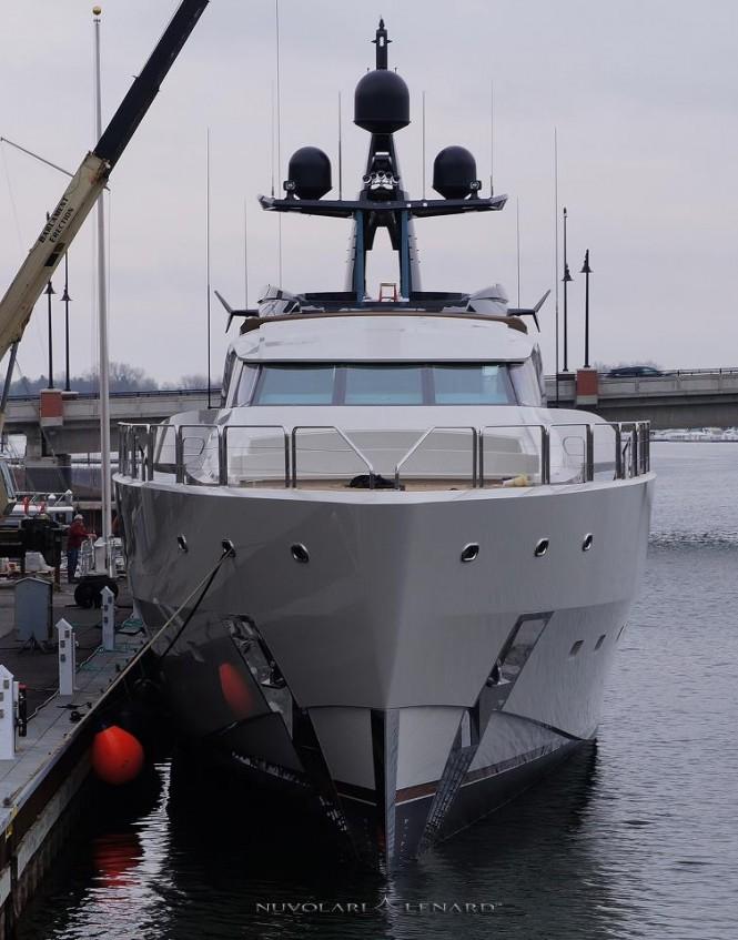 65-metre mega yacht Project Hermes - front view