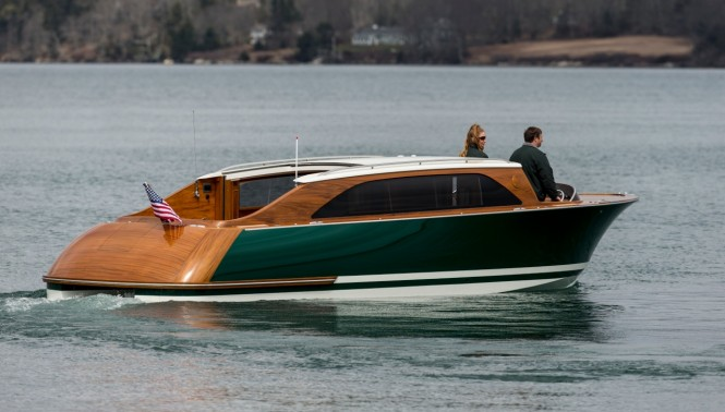 8.5m luxury yacht tender by Hodgdon - aft view