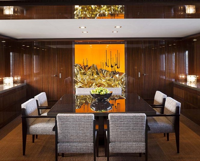 A2 Superyacht - Dining Room Photo credit to Paul Warchol