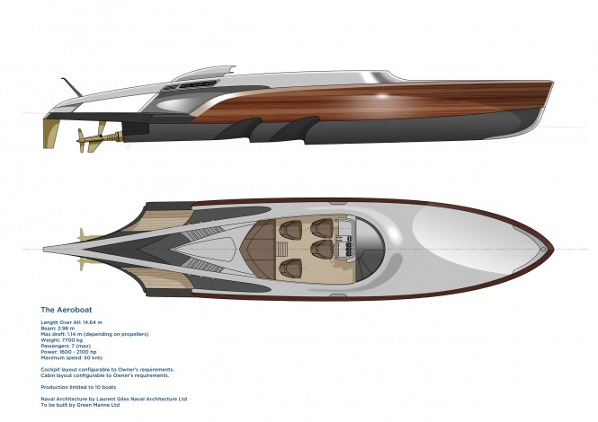 Aeroboat superyacht tender - General Arrangements
