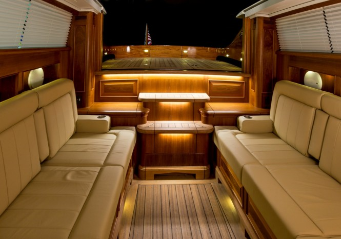 Andrew Winch designed Hodgdon yacht tender - Interior