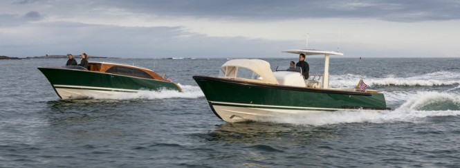 Andrew Winch designed Hull 415 Open Yacht Tender and Hull 416 Limo Superyacht Tender by Hodgdon
