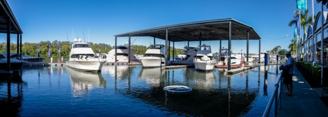As part of the Festival of Boating Riviera will stage a $15 million under cover red carpet boat show at their Coomera manufacturing facility
