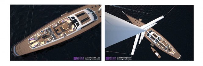 Baltic 175 luxury yacht Pink Gin VI - view from above