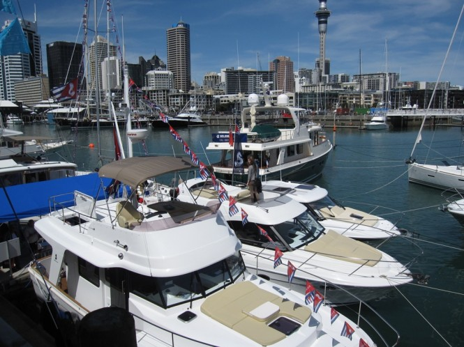 Beneteau and Selene motor yachts on display at Auckland On Water Boat Show