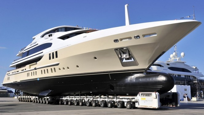 Benetti superyacht Lady Candy (hull FB260) at launch