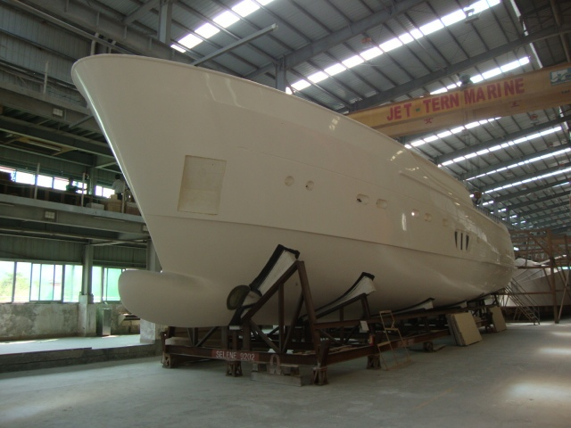 Construction of Selene 92 Ocean Explorer Yacht