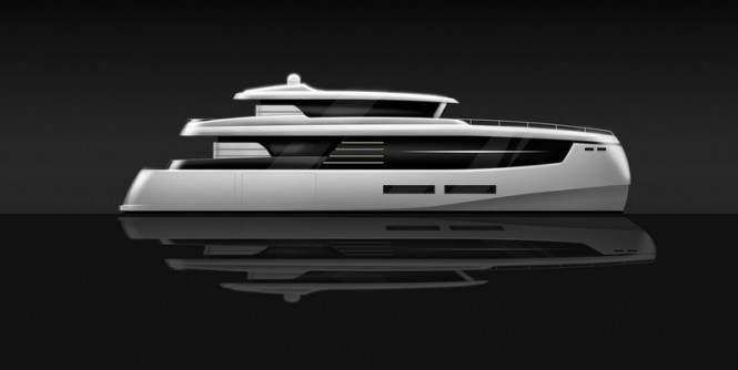 Contact yacht concept - side view