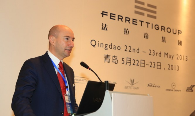 Ferruccio Rossi, Ferretti Group CEO, during the Group press conference