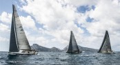 Fleet during coastal race - Photo by Rolex/Kurt Arrigo