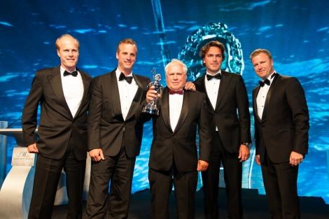 HJB receives the World Superyacht Award 2013 for its J Class yacht Rainbow