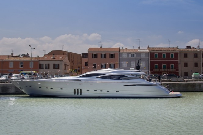 Hull 10 of the Pershing 115 superyacht at her launch - Photo Maurizio Paradisi