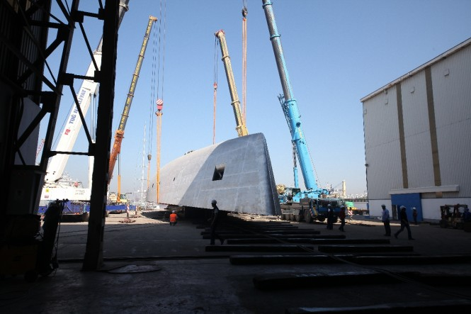 Hull C2227 yacht by Perini Navi to be turned
