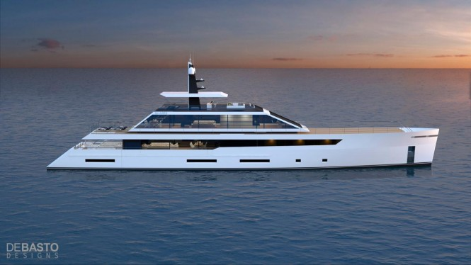 Latest 55m superyacht Quartz concept introduced by Luiz de Basto