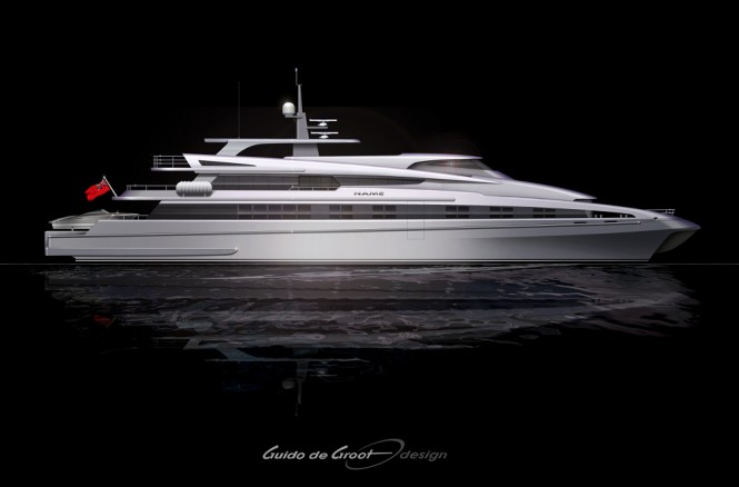 Latest 57m superyacht conversion project by Guido de Groot Design