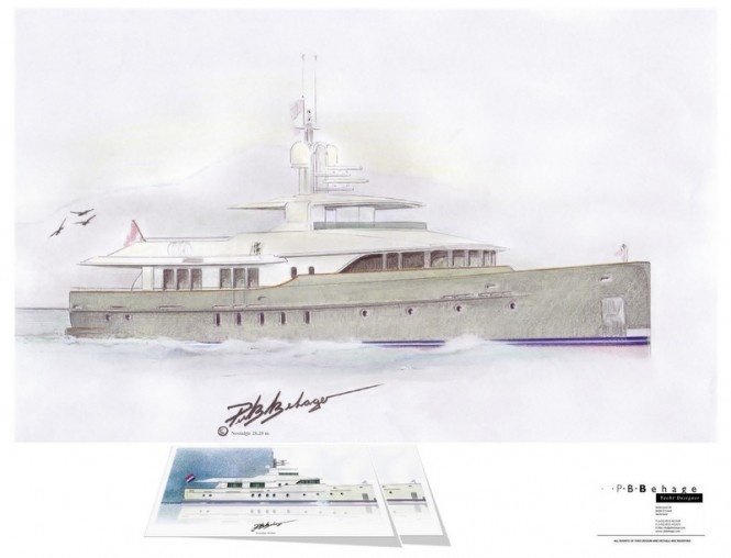 Latest superyacht Nostalgic 28.28 concept by Piet B. Behage
