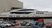 Launch of superyacht Lady M