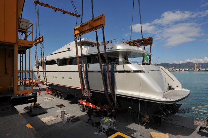 Launch of the 40Alloy superyacht Liliya