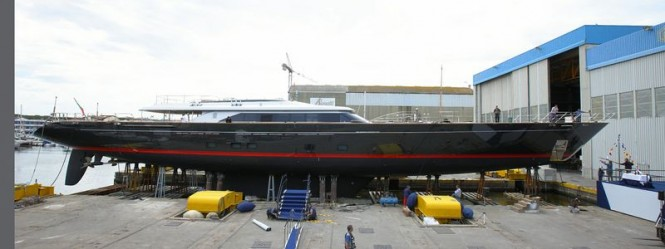 Launch of the 60m Perini Navi superyacht Seahawk (hull C.2193)