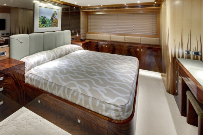 Luxurious interior aboard superyacht Loretta Anne