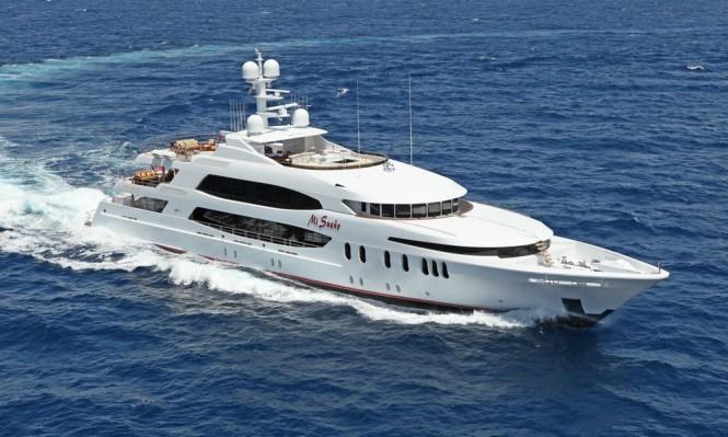 Luxury charter yacht MI SUENO built by Trinity Yachts