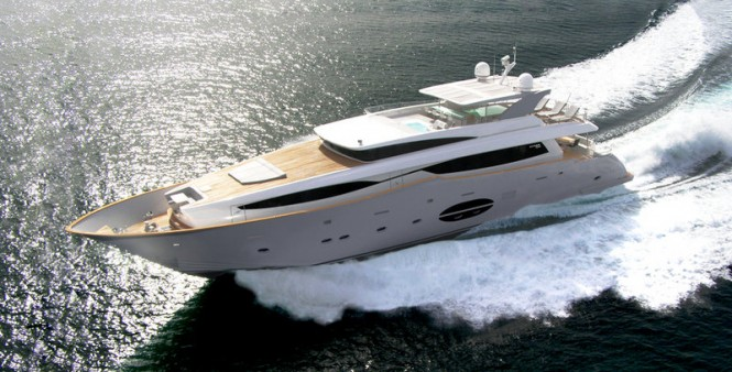 Luxury motor yacht Aycer 110 to be displayed at the 2013 Hong Kong Gold Coast Boat Show