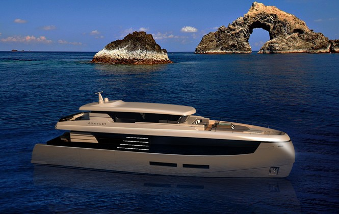 Luxury motor yacht Contact concept by Gabriele Teruzzi
