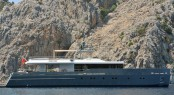 Luxury motor yacht Only Now featuring naval architeture by Diana Yacht Design