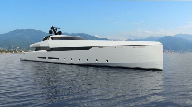 Luxury superyacht Ghost G180F