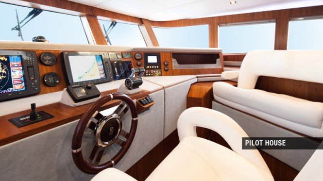 Luxury yacht Aycer 110 - Pilot House