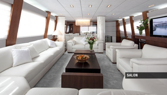 Luxury yacht Aycer 110 - Salon