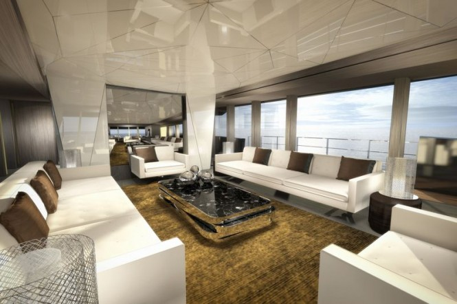 Luxury yacht Ghost G180F - Saloon