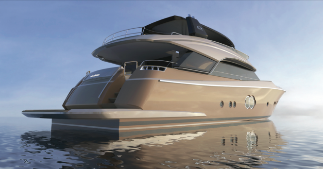 Luxury yacht MCY 86 - aft view