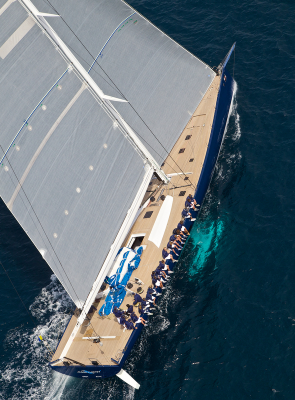 Luxury yacht Magic Carpet3 - view from above