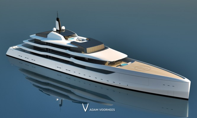 Luxury yacht Project Lumen - Bow