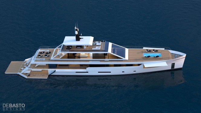 Luxury yacht Quartz concept - upview