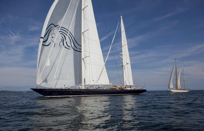 Luxury yacht Scheherazade at the Shipyard Cup X