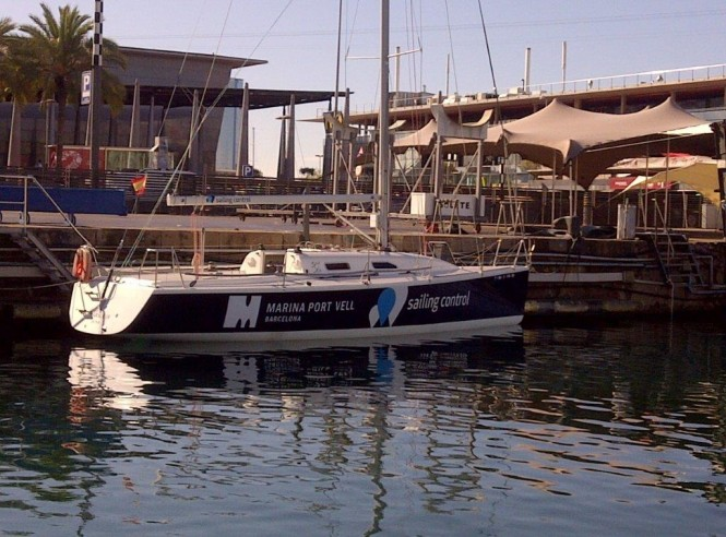 Marina Port Vell Sponsored Sailing Control Yacht in Port
