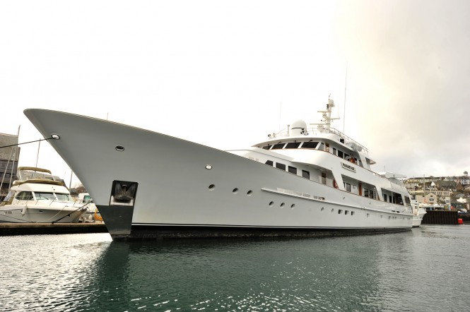 Masquerade of Sole Yacht before her refit at Pendennis