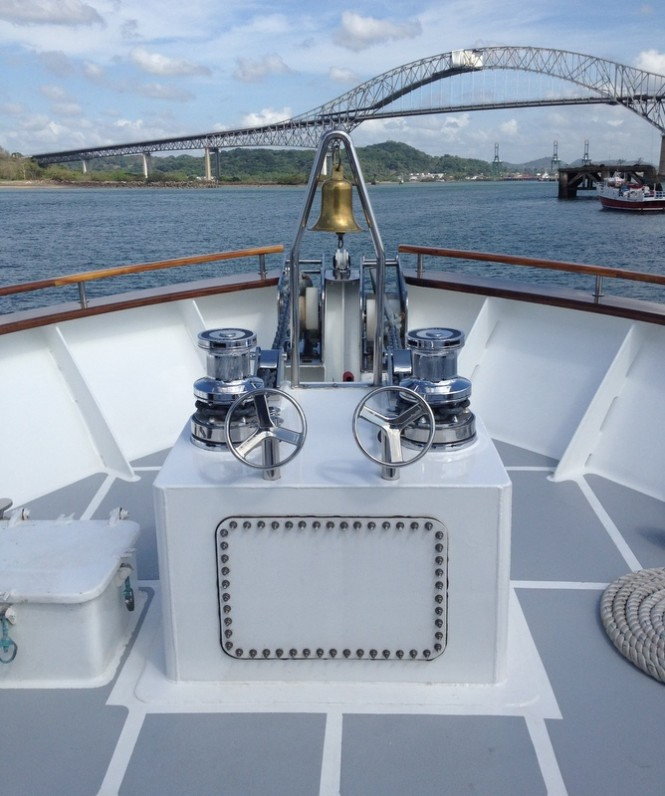 Maxwell Marine supplied two VWC6000 Windlasses for a 120ft superyacht - Photo courtesy of Maxwell Marine