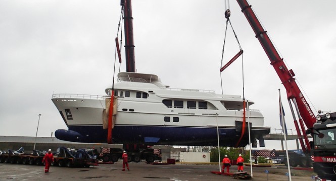 Moonen 100 Explorer superyacht YN195 at launch