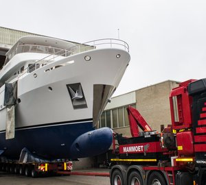 Newly launched Moonen 100 Explorer Yacht Hull YN195