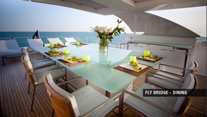 Motor yacht Aycer 110 - Fly Bridge - Dining