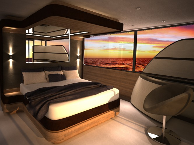 Motor yacht Contact design - Cabin