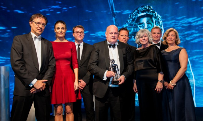Neptune Trophy for Heesen Yacht LADY PETRA at World Superyacht Awards 2013