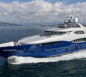New running and interior images of the 46m Vicem Yacht VULCAN